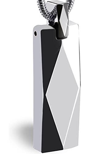 CCopan ネックレス メンズ 人気 ペンダント アクセサリー 金属アレルギー対応 スティック タングステン プレゼント 誕生日 記念日 (ダイヤシルバー)