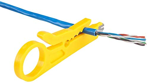 Mini Wire Stripper Network Wire Stripper Punch Down Cutter for Network Wire Cable, RJ45/Cat5/CAT-6 Data Cable, Telephone Cable and Computer UTP Cable 2Pcs