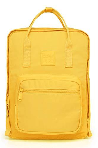 More Pure Rucksack Geldbrse, Passend FR 15-Zoll MacBook, 37x26x14 cm, Warmes Gelb