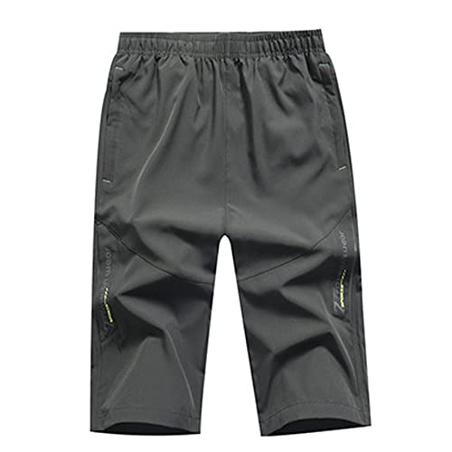 MLYWD Pantalón Corto Running Hombre Deportivo Shorts con Bolsillo con Cremallera Pantalones Cortos Secado Rápido Gym Pantalones Cortos