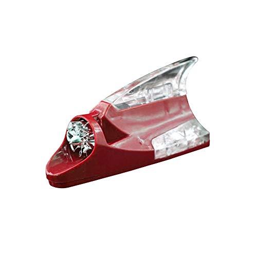 Z&LEI Coche Auto estyling Viento tiburón Aleta en Forma de Aleta led Advertencia Intermitente luz lámpara de luz Accesorios Exteriores,Rojo