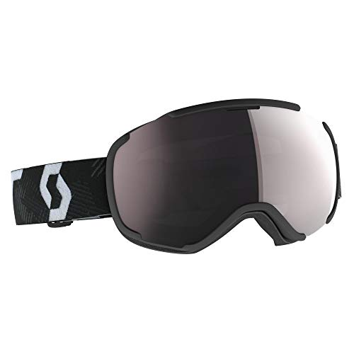 Scott Faze II Goggle Grau-Schwarz, Skibrille, Größe One Size - Farbe Team Black - White - Enhancer Silver Chrome