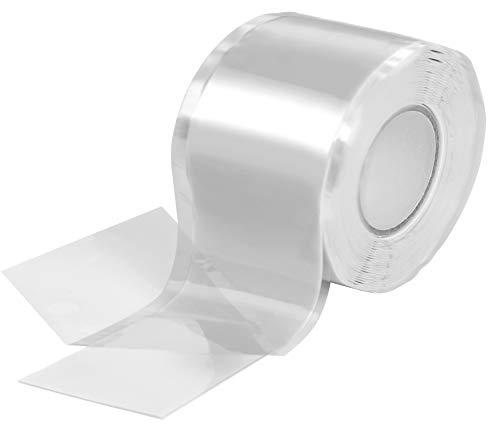 Poppstar 1x 3m selbstverschweißendes Silikonband, Silikon Tape Reparaturband, Isolierband und Dichtungsband (Wasser, Luft), 38mm breit, weiß