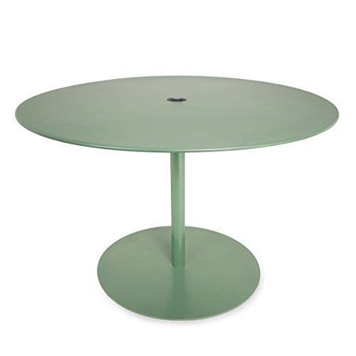 Fatboy®-Table XL Bistrotisch, industriegrün Ø120cm H 76cm mit Einlass für Sonnenschirm