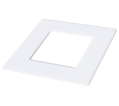 kekef Marco decorativo de cristal acrílico blanco, 1 compartimento, 2 compartimentos, 3 y 4 compartimentos, protector de pared para interruptores de luz y enchufes (blanco 3 x 1 vías)