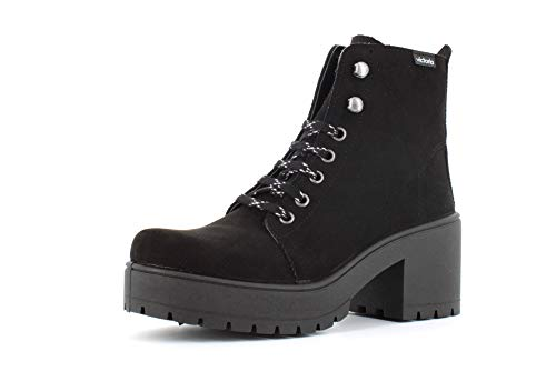 VICTORIA Zapatos de Mujer Botines con tacón 095128 Talla 41 Negro