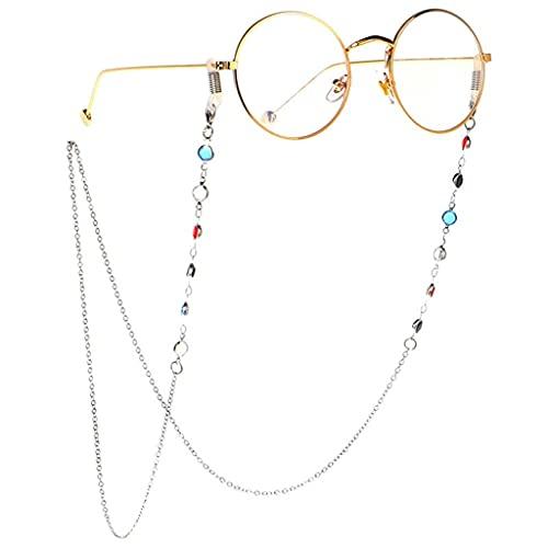 YFQHDD Multicolor Piedra Beads Link Chain Cadena Cadenas Lecturas Gafas Gafas de Sol Strap Cord Holder Holder Cuello Diadema Accesorios (Color : B)
