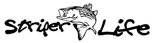 MADI Sticker Striper Life Fishing Fish 8x2inch Decal for Laptop Car Wall Window USA Stickers