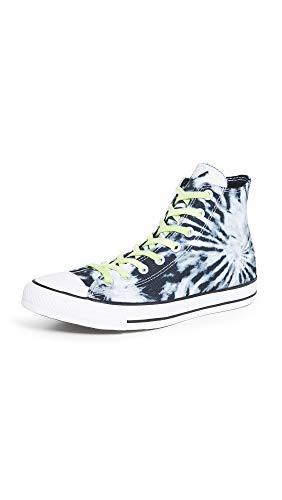 Converse Men's Chuck Taylor All Star Sneakers, Black/Lemongrass/White, 9.5 Medium US
