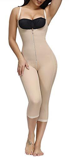 FeelinGirl Women's Body Shaper Waist Cincher Underbust Corset Bodysuit Shapewear Black,S
