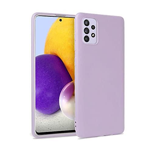 Tech-Protect Icon Hülle - Hülle - Silikon Schutzhülle - Handyhülle | Kompatibel mit Samsung Galaxy A52 4G / 5G | Violett