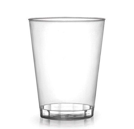 Vasos de plástico duro de alta calidad, transparentes, transparentes, 340 ml, 40 unidades