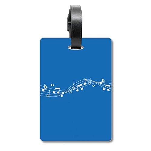 Blue Energetic Music 5-le Staff Valigia Etichetta Bagagli Appeso