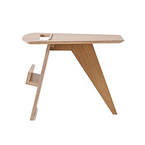 Jcnfa-Tische Segnen Sie Den Beistelltisch, Tausend Papierkranen, Schlafzimmer- Und Wohnzimmersofa Und -Magazin-Beistelltisch, 2 Farben(Size:22.63 * 15.74 * 18.11in,Color:Holz)