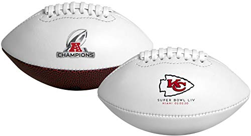 Rawlings 2019-2020 Offizieller NFL AFC Champions Kansas City Chiefs Fußball, Mini-Größe, weiß, Modell: LP0657