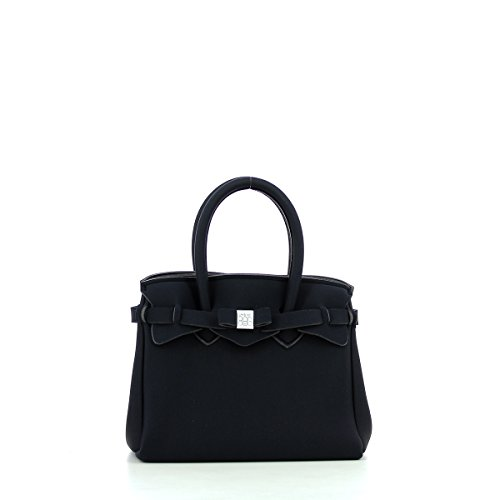 Save My Bag Damen Petite Miss Handtasche, Schwarz, 26x23x13 cm