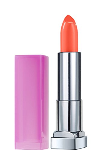 Maybelline New York Color Sensational Rebel Bloom Lipstick, Peach Poppy, 0.15 Ounce