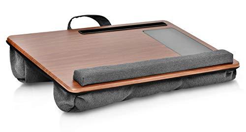 GUS | Design Supporto per computer portatile | Adatto per letto/divano con tappetino per mouse, poggiapolsi e tablet/cellulare con cuscino per laptop | Adatto per notebook da max. 17 pollici