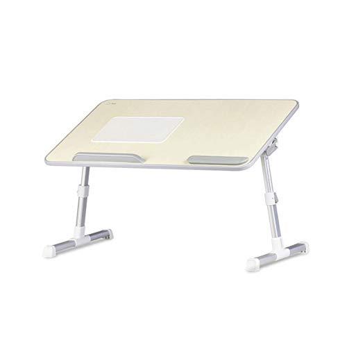 Z-COLOR Cama portátil bandeja ángulo de la mesa y la altura ajustable del ordenador portátil plegable Sofá cama Escritorio Desayuno bandeja portátil Stand-Up Soporte de escritorio de lectura (gris tit