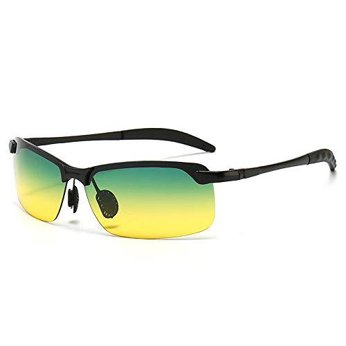 LOYWT Gafas de Sol fotocromáticas Gafas de Sol de día y Noche Gafas de visión Nocturna con Cambio de Color Gafas de Pesca-Montura Negra Día y Noche