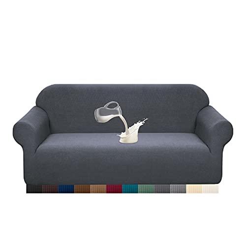 Granbest - Funda para sofá de tela supersuave y elástica, repelente al agua, Gris, Mediano