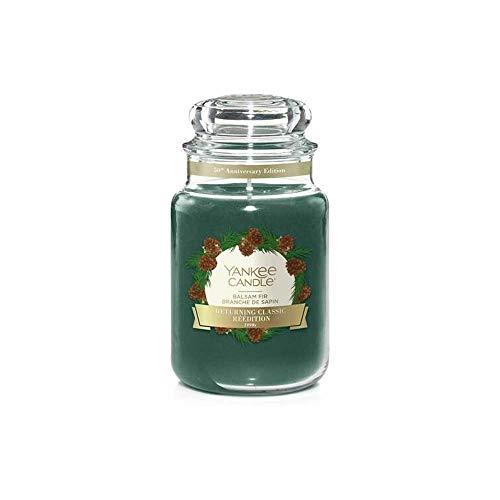 YANKEE CANDLE Balsam Fir Duftkerze, Glas, grün, 16,8cm
