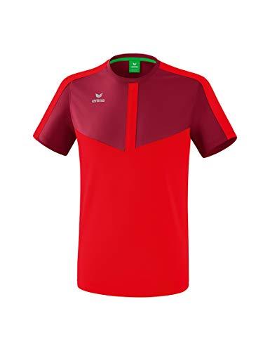Erima Kinder Squad Funktions T-Shirt, Bordeaux/rot, 140