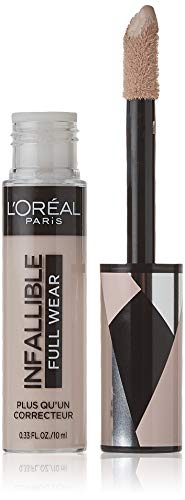 L'Oréal Paris Makeup Infallible Full Wear Concealer, Full Coverage, EXTRA LARGE Applicator, Waterproof, Multi-Use Concealer to Shape, Cover, Contour & Sculpt, Matte Finish, Porcelain, 0.33 fl. oz.