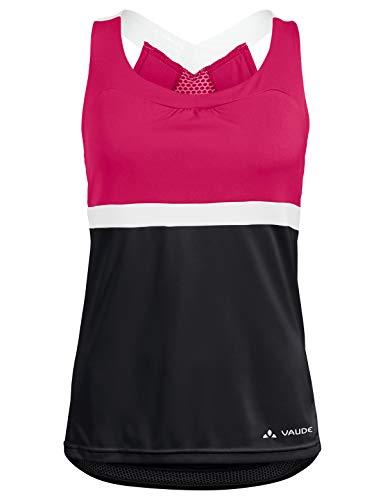 VAUDE Damen Trikot Women's Advanced Top, black/pink, 38, 41962