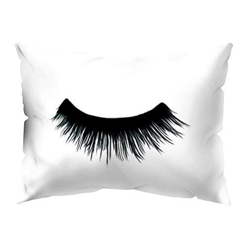 JujubeZAO Kissenbezug im Wimpernstil, für Stuhl, Sofa, Auto, Zuhause, Büro, Dekoration für Zuhause
