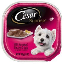 CESAR Sunrise Wet Dog Food with Smoked Bacon and Egg Souffle Breakfast