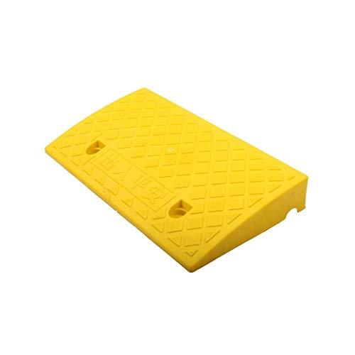 CHANG-dq 5CM / 7CM / 9CM Service-Rampen, rutschfeste Dreieck-Plastikauflage-Krankenhaus-Supermarkt-Rollstuhl-Rampen-tragbare Steigungs-Auflage Autobahn gewidmet ( Color : Yellow , Size : 50*27*9CM )
