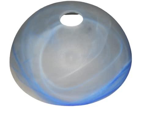 Lampenschirm, Ersatzglas, Blau Alabaster, Glasschirm Glas Schirm, Ersatzschirm, Lampenglas, Pendellampe, Tischlampe, Fluter, Leuchte