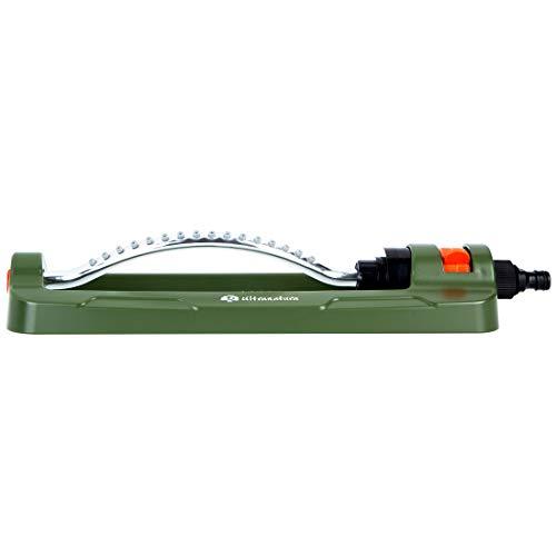 Ultranatura Viereck Sprinkler Easy Control, Variables Bewässerungssystem für Garten und Blumen, Beregnung für Gartenflächen bis 335 Quadratmeter Größe, mit 16 rotierende Düsenköpfe