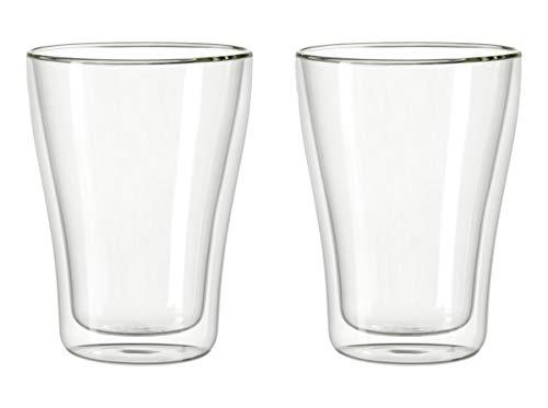Leonardo Duo Becher doppelwandig, 2-er Set, 345 ml, hitzebeständig, handgefertigtes Glas, 054128