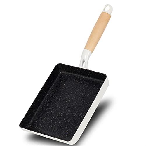 SHENGWEI Sartén de Tortilla Aluminio Sartén Antiadherente para Asar, freír, dorar, Hornear (Color : White)