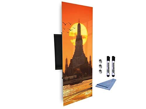 Sleutelkast 80x30 cm samen met magnetisch glas Markerboard digitale drukachtergrond 268478231