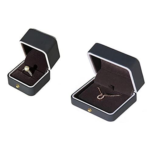 Bract Caja de joyas para guardar joyas y anillos, caja para joyas, joyero para mujer, pequeño viaje, joyero para collar
