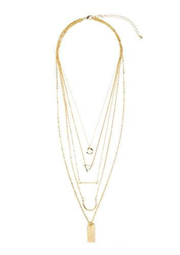 Happiness Boutique Damen Schlichte und Elegante Mehrschichtige Halskette in Goldfarben