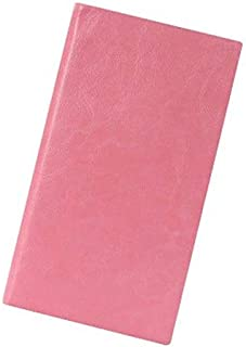 Durable Notebook Planner Agenda Diary Leather Book Small Pocket Notepad Line Stationery Office (Farbe : Pink, Größe : A7)