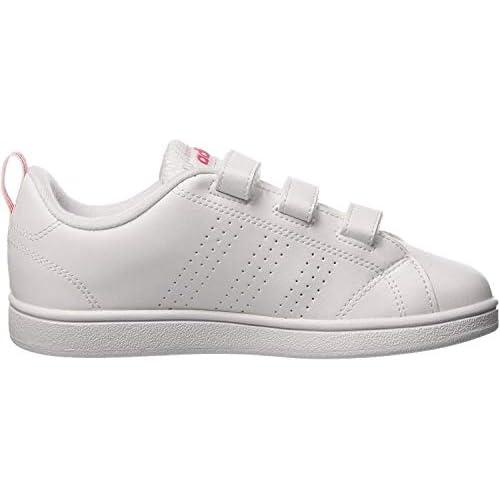 adidas Vs ADV Cl Cmf C, Scape per Sport Outdoor Unisex-Bambini, Bianco (Ftwwht/Ftwwht/Suppnk Ftwwht/Ftwwht/Suppnk), 32 EU