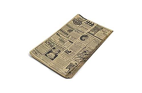 Hostelnovo Lot de 100 feuilles de papier anti-graisse pour emballages alimentaires 32 x 20 cm