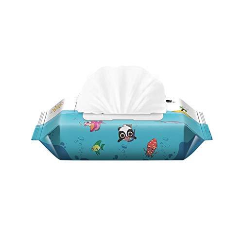 Feuchttücher für Säuglinge und Kinder, chemikalienfrei, plastikfrei, für Windeleinlagen, Make-up-Entfernung, Patientenreinigung