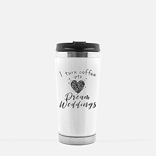 Ik draai koffie in droom bruiloften reismok bruiloft planner mok cadeau voor bruiloft coördinatoren cadeau voor bruiloft planners ceremonie