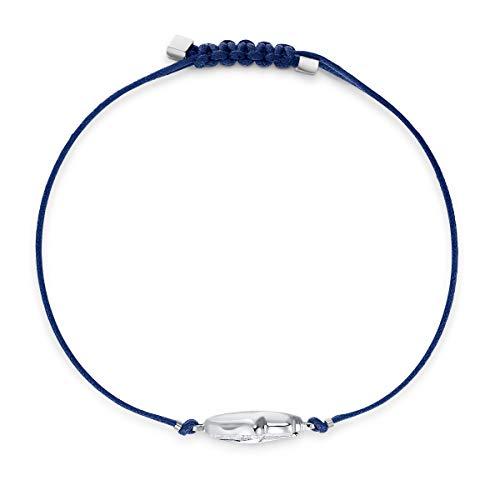 Swarovski Braccialetto Power Collection Hamsa Hand, Azzurro, Acciaio Inossidabile