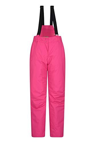 Mountain Warehouse Moon Womens Ski Pants - Ladies Snowboarding Suspenders Bibs Bright Pink 4
