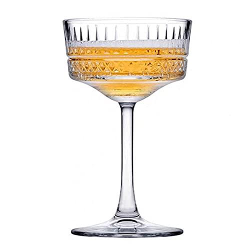 WANGLX Flautas de Champán,Copa de Champán de Borde,Copas de Champán, Vidrio, Cristal Transparente