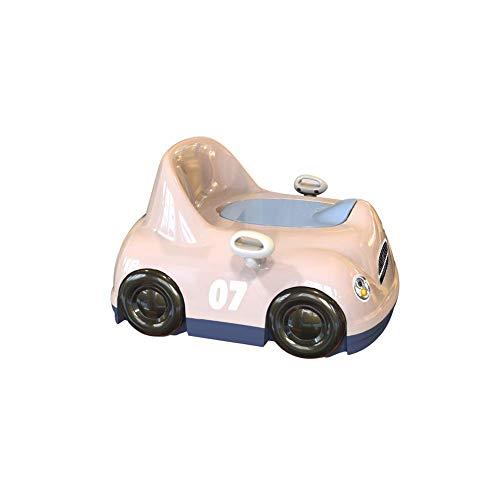 Jieer-C Ergonomische pannentrainer, potje voor kinderen om af te schrikken, spatbescherming, design comfortabele rugleuning, veiligheidshand, Stimola interesse, draadloze training Roze.