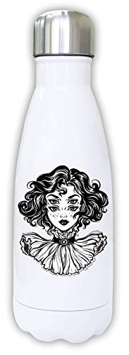 Iprints Mooie Four Eyed Woman Art Thermal Water Bottle