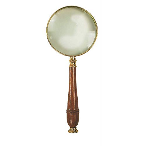 Authentic Models, Magnifying Glass, Glass Magnifying Instruments - Honey & Brass/Distressed French Finish